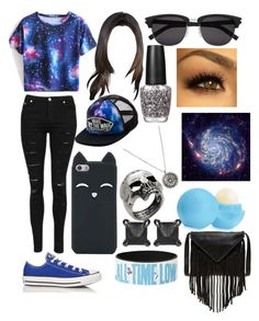 """""""Out of this world"""" by fashion-is-the-passion-123 ❤ liked on Polyvore featuring Converse, J.J. Winters, Vans, Yves Saint Laurent, Eva Fehren, John Richmond, OPI and Eos"""