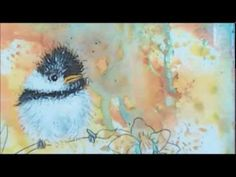 ▶ How to paint acrylic birds : mixed media art journal page - YouTube