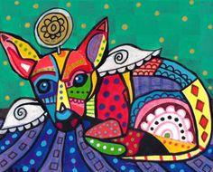 Chihuahua Art Poster Print Modern Dog Art by HeatherGallerArt, $16.00