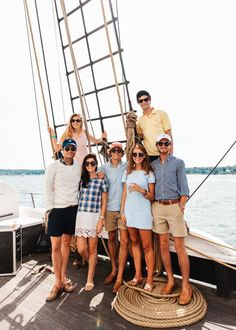 Sailing with friends, via Sophie Shoe Lover.