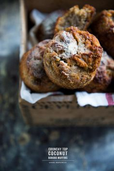 Crunchy Top Coconut Banana Muffins