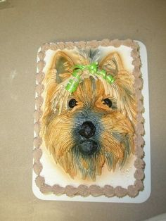 Yorkie By Adontee On Cake Central Pics Pictures Mom Birthday