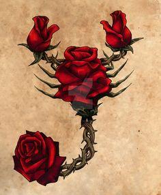 Résultats de recherche d'images pour « scorpion rose »
