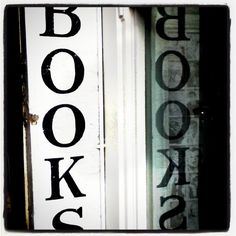 book shop sign reflection - @Gareth Richman | Webstagram