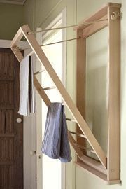 Home Decor Inspiration : The wall mounted indoor laundry rack clothes airer dryer. This unit will dry up - Mary's Secret World - Home Decor Inspiration : The wall mounted indoor laundry rack clothes airer dryer. This unit will dry up Source by - Laundry Doors, Laundry Rack, Bathroom Laundry, Laundry Room Drying Rack, Laundry Hanging Rack, Wall Mounted Drying Rack, Hanging Drying Rack, Laundry Dryer, Bathroom Rack