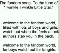 Welcome to the fandom world