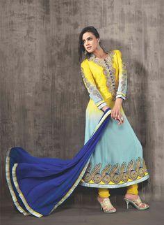 Designer Partywear Anarkali Salwar Suit
