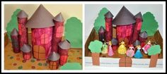 DIY castle with TP and Kitchen rolls - Just did this my son, he had fun with it! Crafts To Do, Crafts For Kids, Paper Roll Crafts, Play Based Learning, Construction Paper, Creative Kids, One Color, Toddler Activities, Legos
