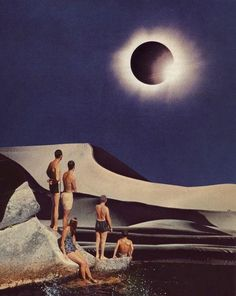 BY the light of the silvery moon(credit:Beth Hoeckl  collage)