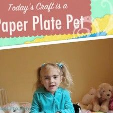 Paper Plate Pet - Craft Show for Kids {Free Coloring Sheets}
