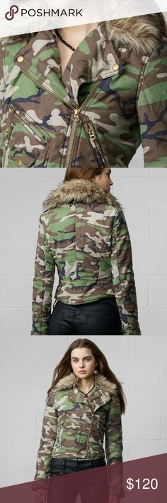 Ralph Lauren Denim and Supply Camo Jacket faux fur Ralph Lauren Denim and Supply camo jacket with faux fur hoodie. Faux fur lining can be removed. Very warm and thick. Flattering torso fit. Excellent condition True to size, a little too snug through the shoulders for me. Denim & Supply Ralph Lauren Jackets & Coats