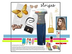"""Yes! stripes!"" by jennross76 on Polyvore featuring Mary Katrantzou, Salvatore Ferragamo, Rebecca Minkoff, Linda Farrow, Tattly, Free People, Marni, Anya Hindmarch, StreetStyle and stripes"
