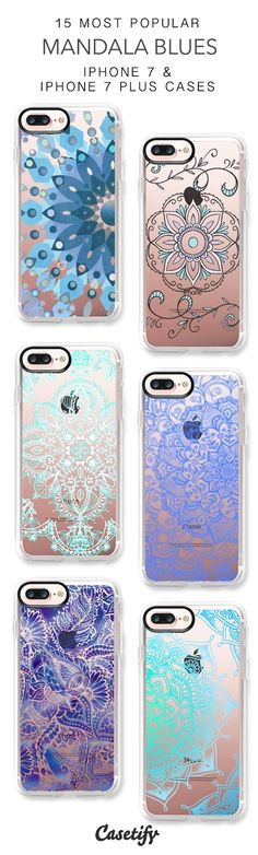 15 Most Popular Mandala Blues iPhone 7 Cases and iPhone 7 Plus Cases. More Patterns iPhone case here > https://www.casetify.com/collections/top_100_designs#/?vc=ZhIkIG4Zc7