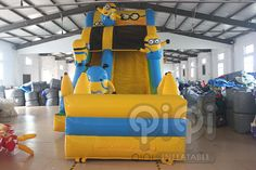 https://flic.kr/p/va5kkS |Get ready for our Great design minion water slide with pool! Yes, for sure, it is new design with splash pool in the front.Minion Despicable Me themed inflatables is always popular and is great for all ages. Features safety netting over climbing area and at the top.Our inflatable minion Despicable Me series slide looks like the real thing and its a ton of fun!  More Info:http://www.qiqi-toys.com/Slide/Minion-Inflatable-Slide-With-Pool-1223.html