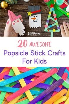 Popsicle sticks are a great art medium because they are perfect for little hands. We've got the ultimate list of popsicle stick crafts for you and the kids! Popsicle Stick Crafts For Kids, Easy Crafts For Kids, Popsicle Sticks, Easy Diy Crafts, Craft Stick Crafts, Toddler Crafts, Projects For Kids, Diy For Kids, Kid Crafts