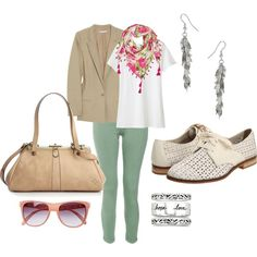 Summer mint jeans, created by kristin-donovan on Polyvore