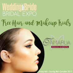 Looking for some hair and makeup ideas for your big day? Visit Tamarua Beauty Academy at the Wedding & Bride Bridal Expo for a FREE trial! That's right, FREE get a sneak peek at how beautiful you'll look on your big day! 💄 💋  #weddingandbride #springbridalexpo #bridetobe #hairandmakeup #weddinghair #weddingmakeup #beauty #freemakeuptrials