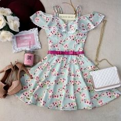 Bridgette's party outfif Dress Outfits, Casual Dresses, Short Dresses, Fashion Dresses, Girls Dresses, Cute Outfits, Dress For Girl Child, Pretty Dresses, Beautiful Outfits