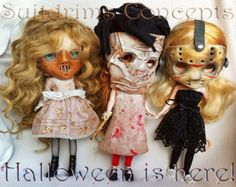 Scale 1:6 for Blythe dolls. The original Blythe mask. Halloween. Inspired JASON voorhees MADE for ORDER