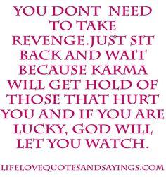 Karma  quote  revenge