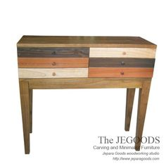 Stunning Rustic Chest of Drawers - Rustic Furniture in Pop Art Style.  We produce & supply #rusticfurniture style made of teak & mindi wood. Best traditional handmade construction with high quality artisan made at affordable price. http://jeparagoods.com