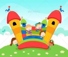 Bouncy Castle Cute little kids jumping on a bouncy castle File Formats AI JPG Created: GraphicsFilesIncluded: PhotoshopPSD Layered: Yes MinimumAdobeCSVersion: CS Tags: activity Bouncy House, Bouncy Castle, Castle Cartoon, Virtual Academy, Ball Storage, Walking People, People Sitting, Adobe Illustrator, Things That Bounce