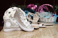 e44c9e189 Swarovski (Crystal) Diamonds Blinged Out Converse Chuck Taylor Bridal  Wedding Sneakers Crystal Wedding Sneakers