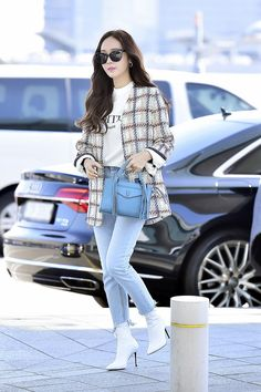 35 new ideas travel girl airport Snsd Fashion, Fashion Idol, Korean Fashion, Girl Fashion, Fashion Outfits, Jessica Jung Fashion, Jessica Jung Style, Krystal Jung Fashion, Yoona