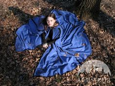 One more great costume from old good times. Handmade woolen medieval cloak with embroidery