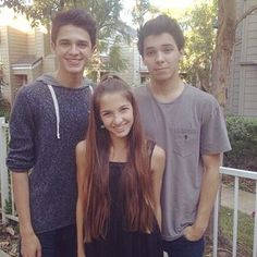 Lexi with her 2 brothers Brice and Brent