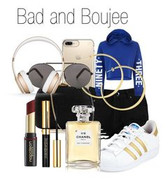 """Bad and Boujee"" by lovemelovemenot45 ❤ liked on Polyvore featuring Speck, Boohoo, adidas, New Look, Serpui, Chanel, David Jones, Seafolly and Beats by Dr. Dre"