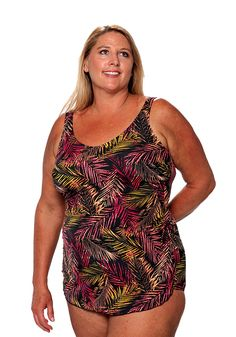 fa9cce79e0f0c Classic Sarong Mastectomy Swimsuit by T.H.E. (Add l Colors  amp  Missy  amp