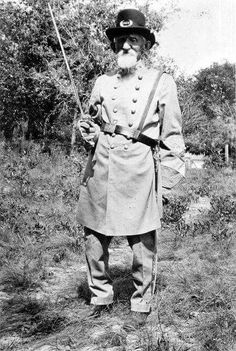 April 1917 : Portrait of 81 year old Confederate Captain Edward Camden from Volusia County, Florida Captain Edward put on his Civil War veteran's uniform and tried to register for the draft on the first day of World War I