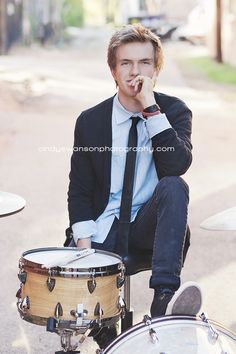 senior portraits with drums - Google Search