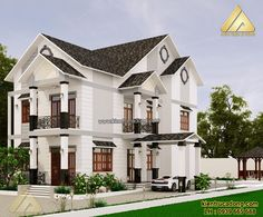 Exterior Design, Interior And Exterior, 2 Storey House, Archi Design, House Front Design, Fantasy House, Modern Interior, My House, House Plans