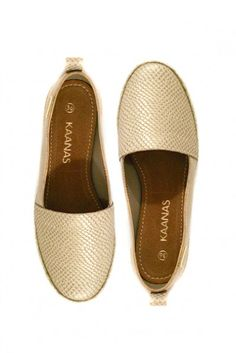 Kaanas 'Tanzania' Python Champagne Shoes | Orchid Boutique