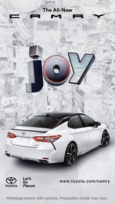 Find a new, comfortable mid-size car at a Toyota dealership near you, or build & price your own Camry online today. Car Banner, Mid Size Car, Toyota Dealership, Web Design, Graphic Design, Ad Car, Design Typography, Design Poster, 3d Poster