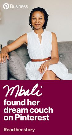 Learn how you can reach more people like Mbali. This design lover spent years saving decor ideas on Pinterest before landing her first apartment. After settling on a neutral color palette, Mbali searched for a grey couch on Pinterest and one in particular from Article kept appearing in her homefeed. #pinterest #audience #targeting #retail Grey Couches, First Apartment, Neutral Colour Palette, People Like, Landing, Campaign, Retail, Decor Ideas, Color