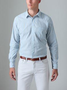 Ideas for corporate attire    GANT Rugger - Broken Placket Stripe Shirt