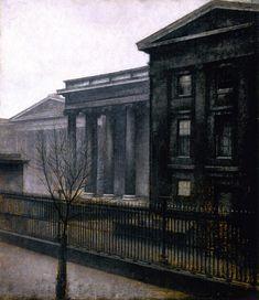 Vilhelm Hammershøi: The Athenaeum from the British Museum, Winter, 1906.