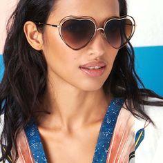 06406947a0 Chloé Poppy Love Heart-Shaped Sunglasses