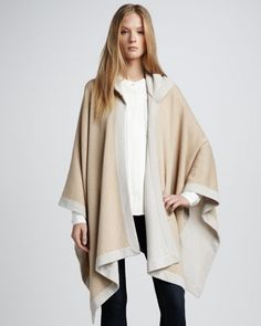 Theory  Two-Tone Hooded Poncho