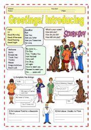 Greetings Worksheets For Kids teaching greetings in english worksheets ...