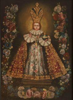 Infant of Prague Sto Nino, Angelic Symbols, Infant Of Prague, Haitian Art, Novena Prayers, Church Of Our Lady, In The Zoo, Mary And Jesus, Catholic Saints