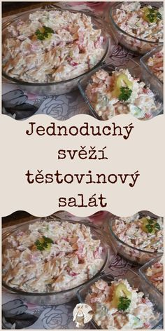 Slovak Recipes, Potato Salad, Salads, Food And Drink, Menu, Cooking Recipes, Vegetarian, Pizza, Ethnic Recipes