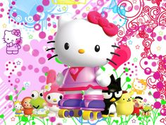 hello kitty birthday backgrounds | ... Wallpaper #71261 Hello Kitty Birthday Images Wallpaper 1920x1080 With