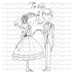 To Have & To Hold by alldressedupstamps on Etsy
