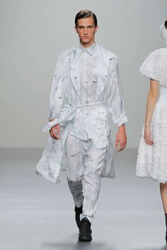 Fashion Inspiration (Flamboyant All-White Menswear - The Carlos Diez Spring/Summer 2013 Collection is Texture-Enriched (GALLERY))