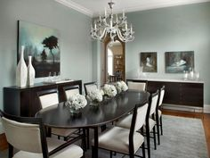 Simple and effective, a chandelier over the table is a classic way to light a dining room. Improve this lighting feature by installing a dimmer to enhance the mood of your meals.