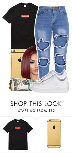 """1348"" by ashley-mundoe ❤ liked on Polyvore featuring Champion and Goldgenie"
